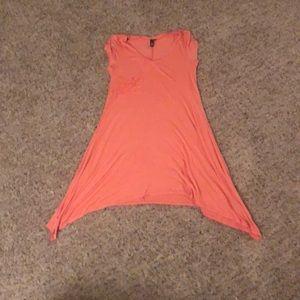 Coral Short Sleeve Dress